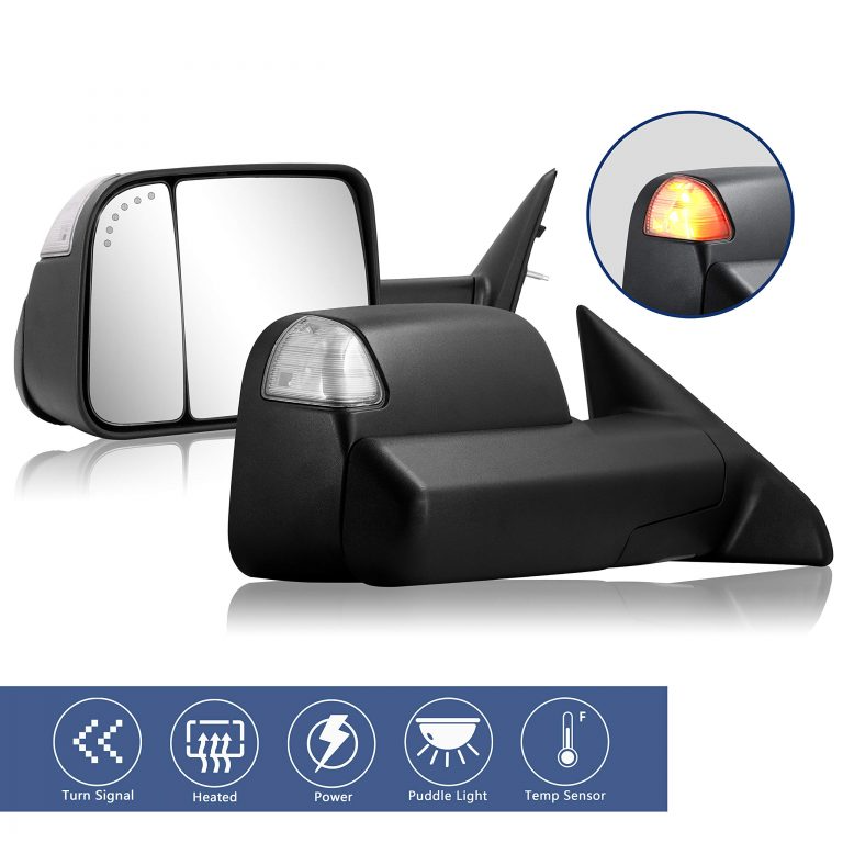 Towing Mirrors Replacement Fit For 2009 2017 Dodge Ram 1500 2500 3500 Pickup Truck With Power Adjusted Heated Led Turn In 2021 Towing Mirrors Mirror Replacement Towing