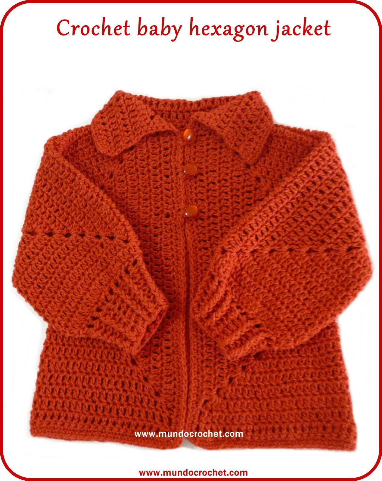 Crochet Hexagon Jacketcrochet Hexagon Sweater Knitting And