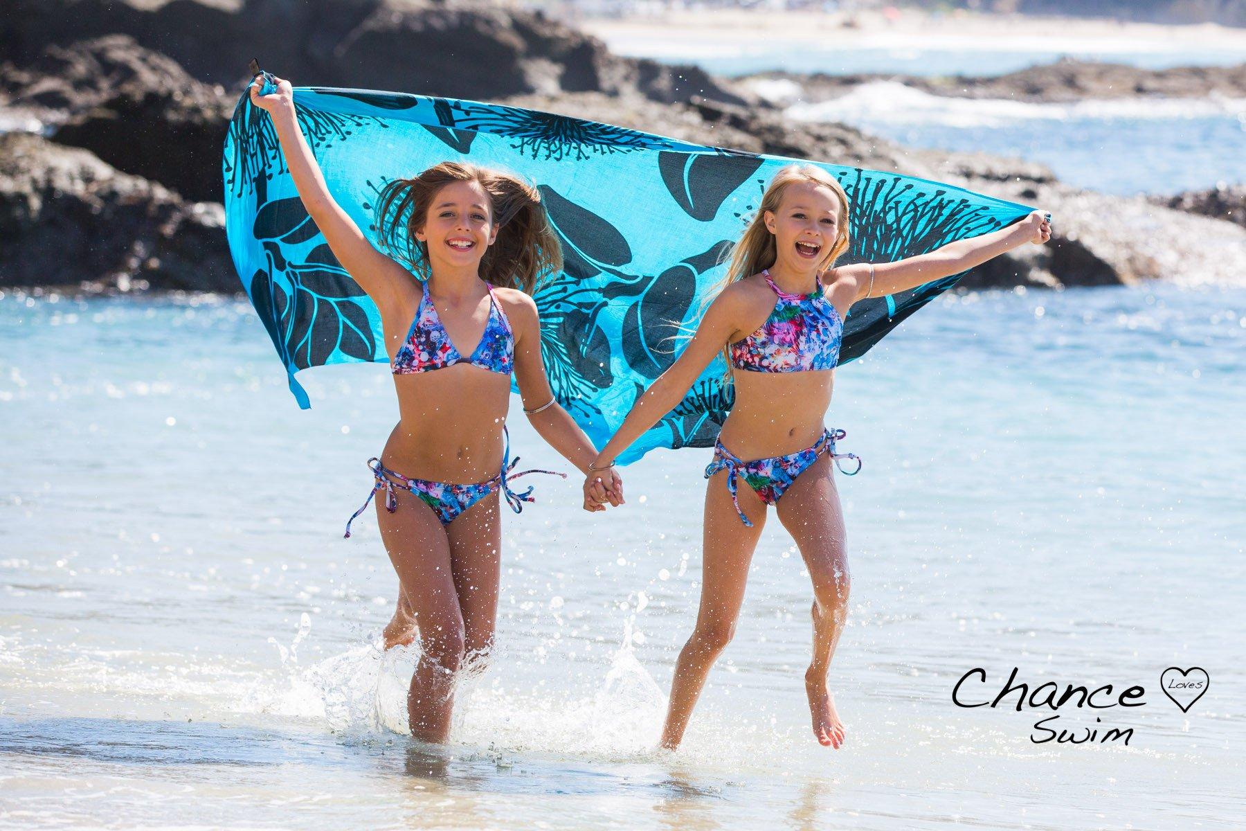 7909886935b Multi Colored Art Print - Bikini for girls. Adjustable Triangle Top and  adjustable Bottoms