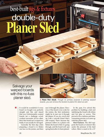 Planer Sled Woodworking Pinterest Woodworking Wood