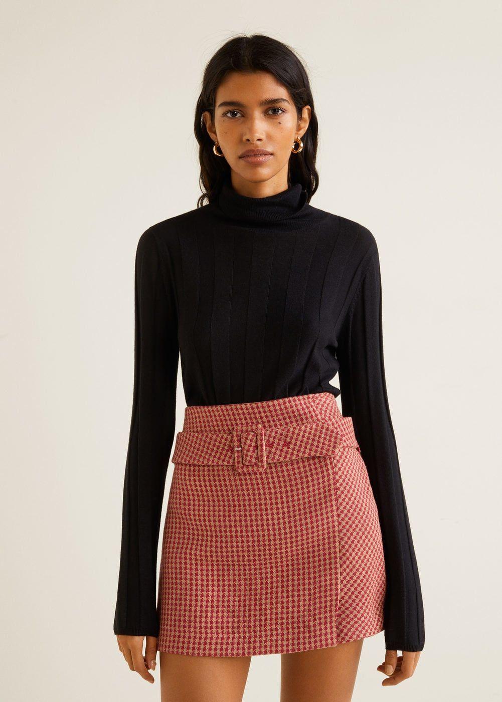 Check miniskirt -  Woman | Mango Canada