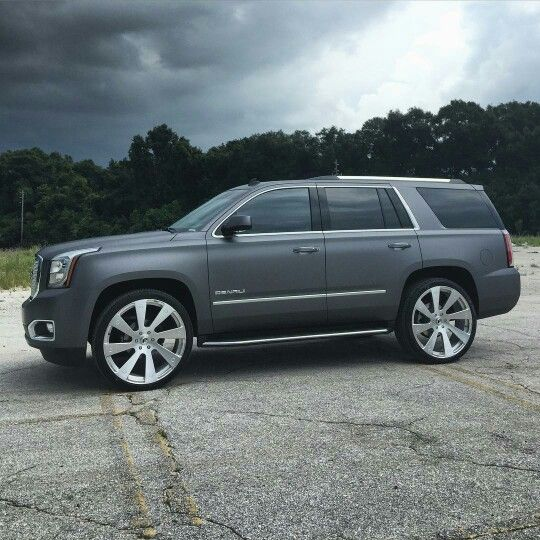 Yukon Denali Matte Grey Custom 24 Wheels Dream Cars Range