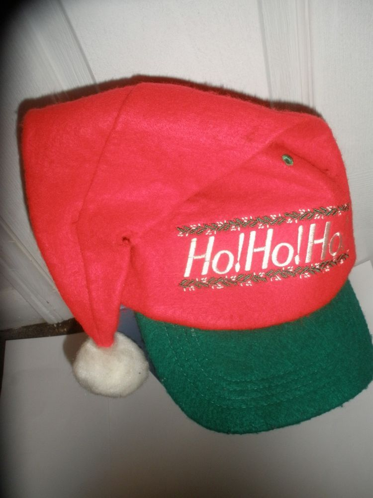 Vintage Christmas SANTA SNAPBACK Hat Cap NICE Ugly Sweater Party COOL   Christmas  SantaHat 6472650ac1c
