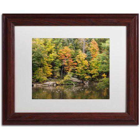 Trademark Fine Art Early Fall Canvas Art by Kurt Shaffer, White Matte, Wood Frame, Size: 11 x 14, Multicolor