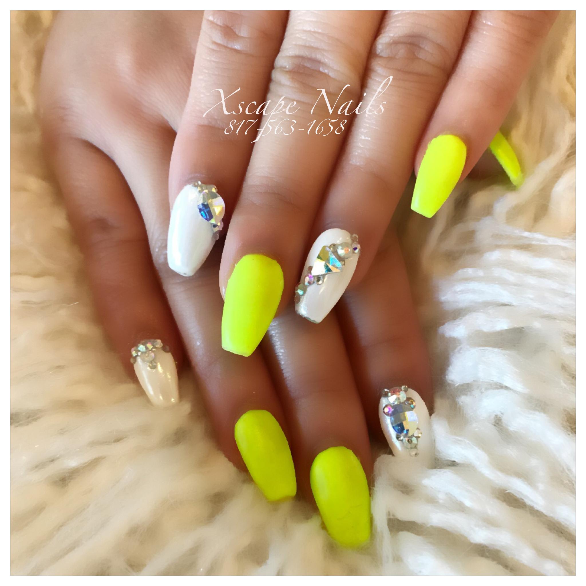 Neon matte nails | Cute Nails Designs | Pinterest | Matte nails