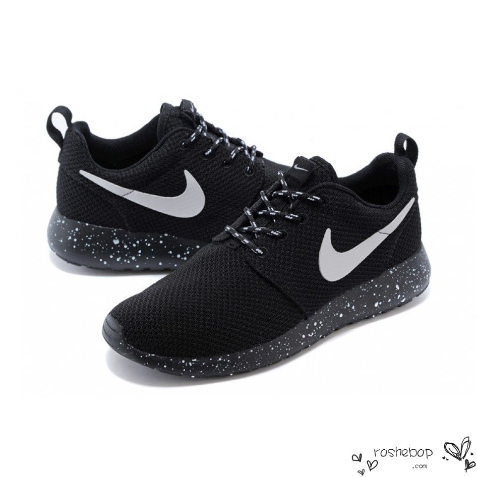 89a781afed33 Nike Roshe Run Mesh Ink Spot Speckled Black Shoes Mens Womens -  www.roshebop.com  52.99