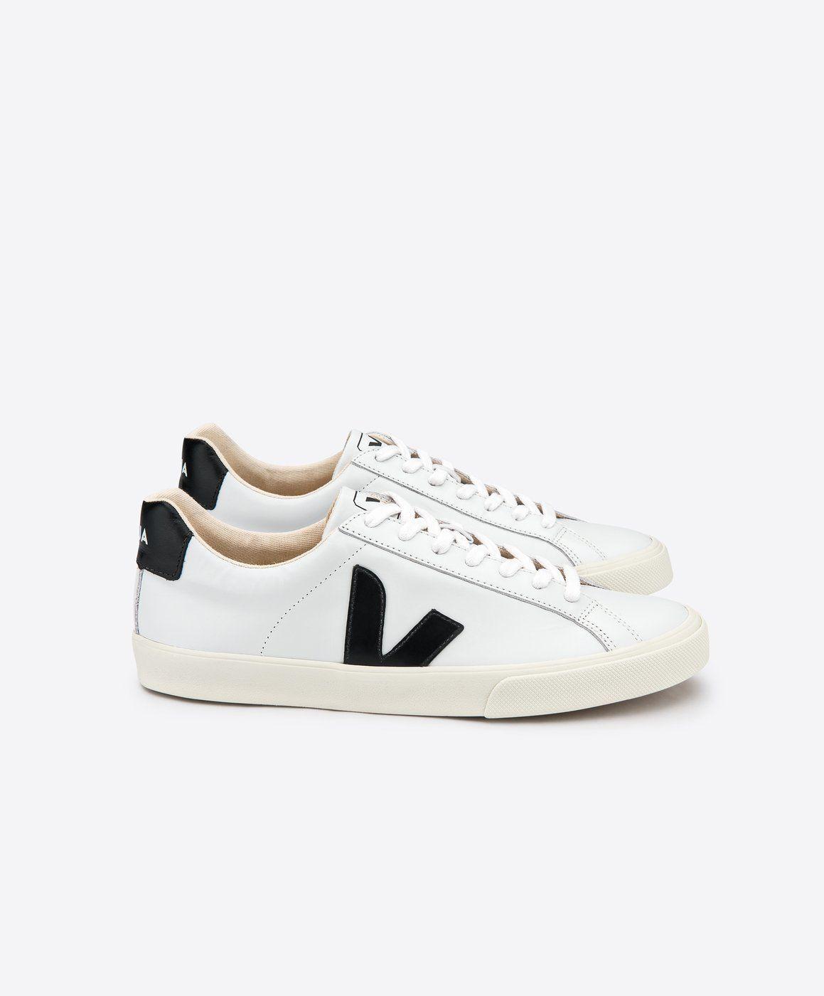 0383017cc4efb Veja Esplar Leather Shoe - White Black   8 in 2019