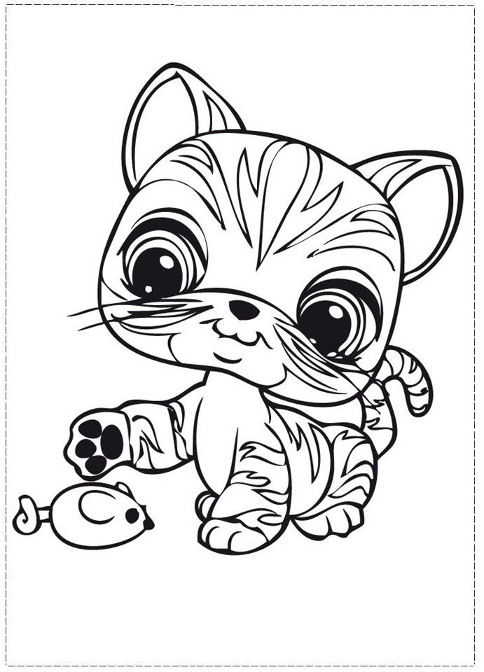 Cute littlest pet shop coloring pages || COLORING-PAGES-PRINTABLE.COM | 960x691
