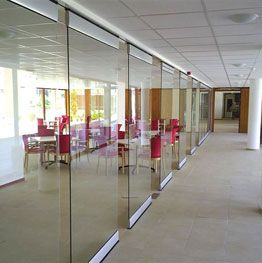 Glass Room Partitions movable frameless glass partition wall | gibo glass room divider