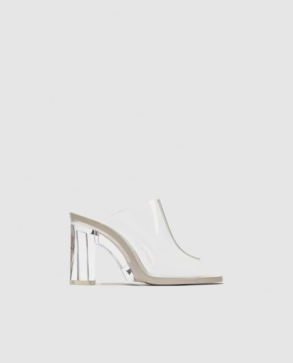 cd0f99475d1 Image 2 of MULES WITH TRANSPARENT HEELS from Zara