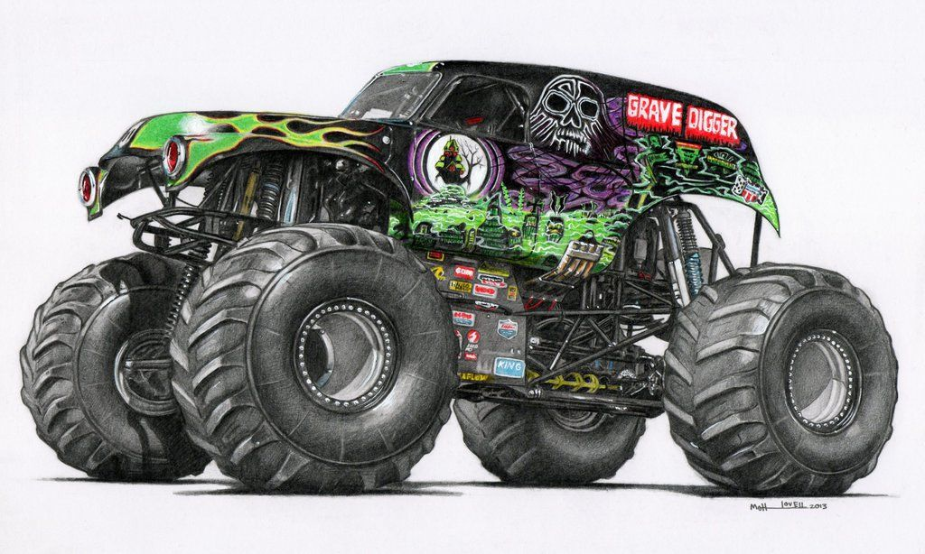 Grave Digger Drawn Using Derwent Coloursoft Pencils And Designers