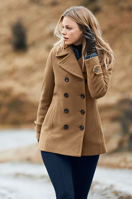 29bde22b89 Women's Wool Peacoat from Lands' End | Coats22 | Fashion, Peacoat ...