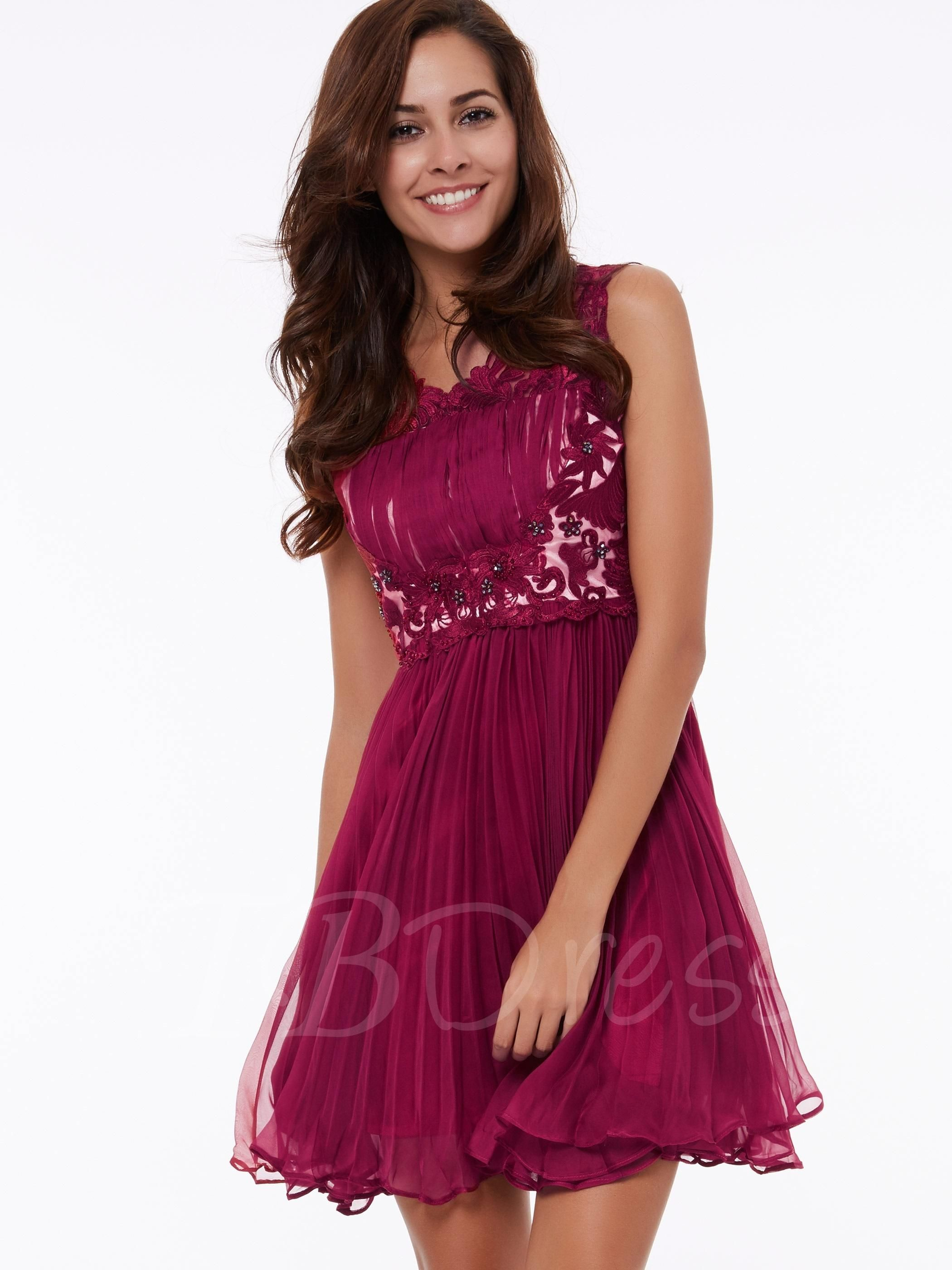 Tbdress tbdress aline scoop beading lace short homecoming dress