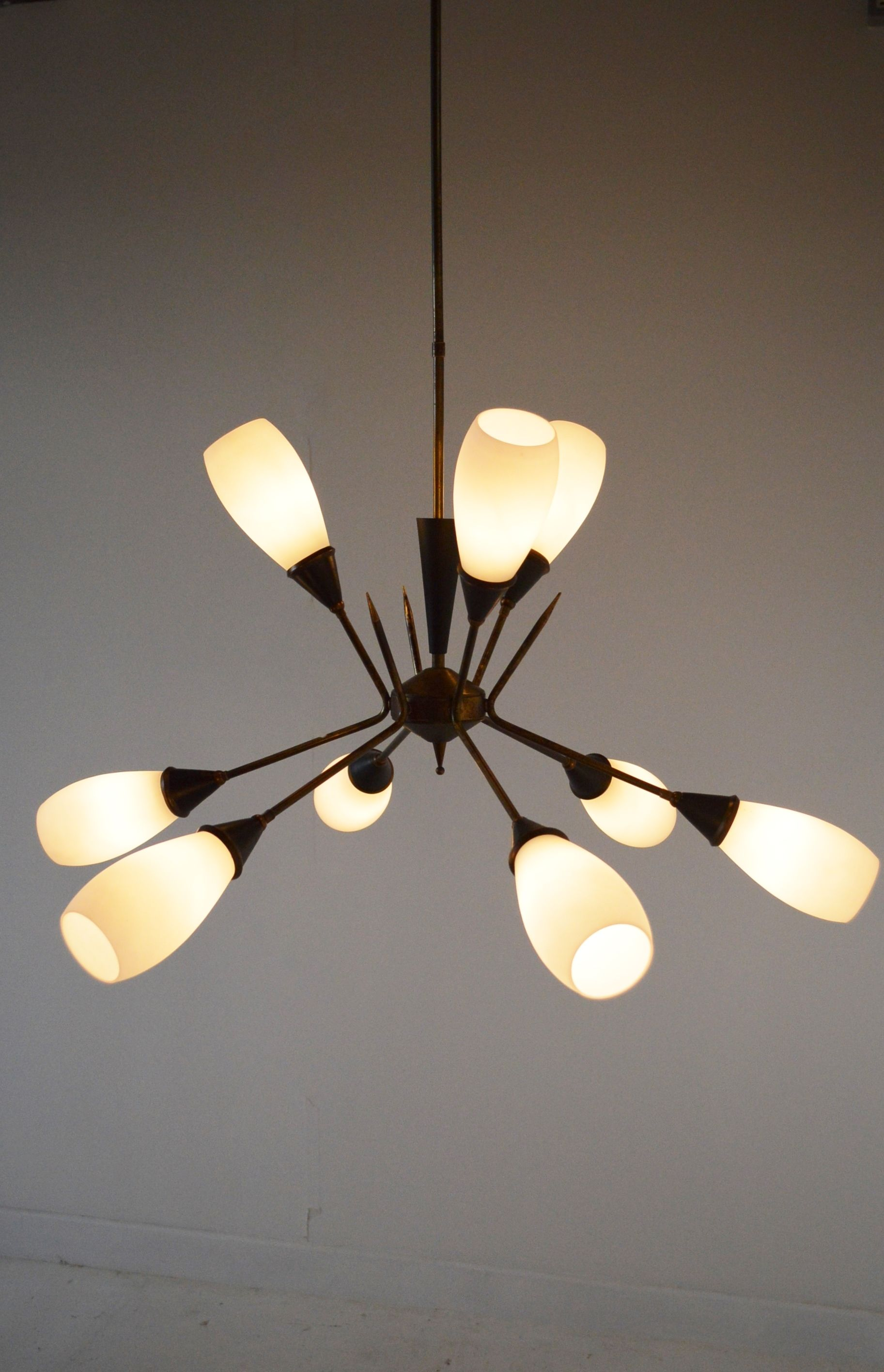 mid century modern lighting. Stilnovo Chandelier, 1950s Mid Century Modern Lightning Lamps Lighting