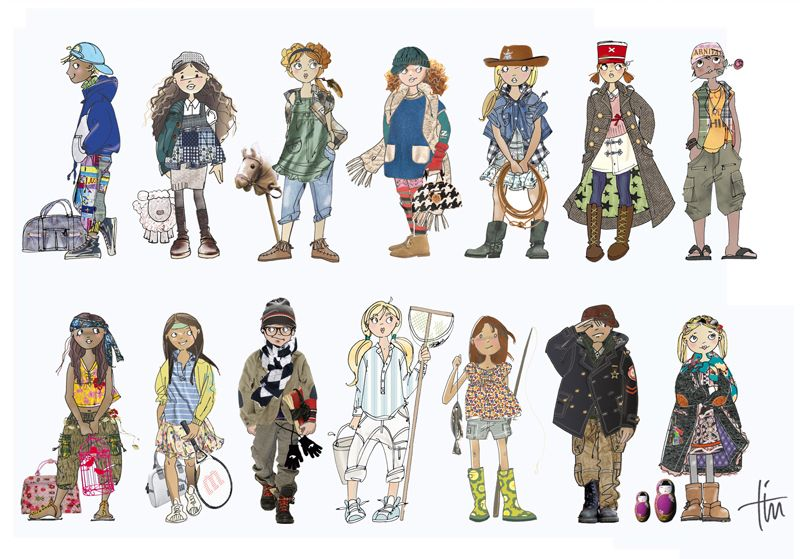 fashion sketches of kids google - Kids Sketches