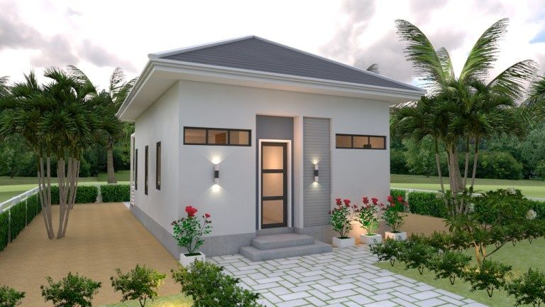 Studio House Plans 6x8 Hip Roof 5 In 2020 House Roof Small House Design Backyard Guest Houses