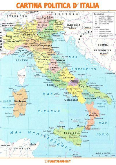 Cartina Politica Dell Italia.Cartina Muta Fisica E Politica Dell Italia Da Stampare