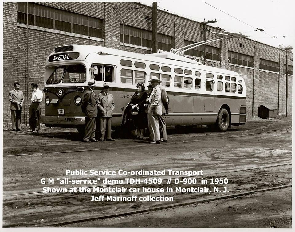 1950 public service trolley bus later converted to diesel