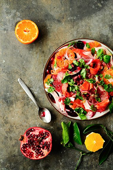 citrus, beet ans fennel salad with smoked salmon | studiokuchnia.pl
