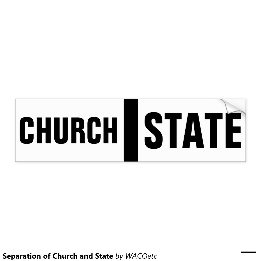 Separation Of Church And State Car Bumper Sticker Bumper Stickers Car Bumper Stickers Stickers [ 1104 x 1104 Pixel ]