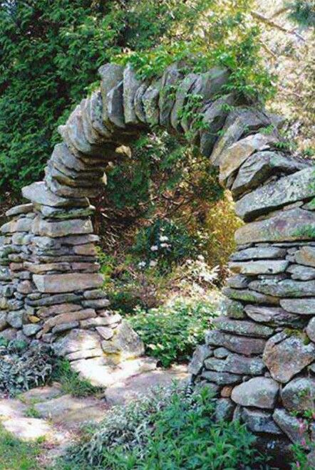 Moon stone garden gate.