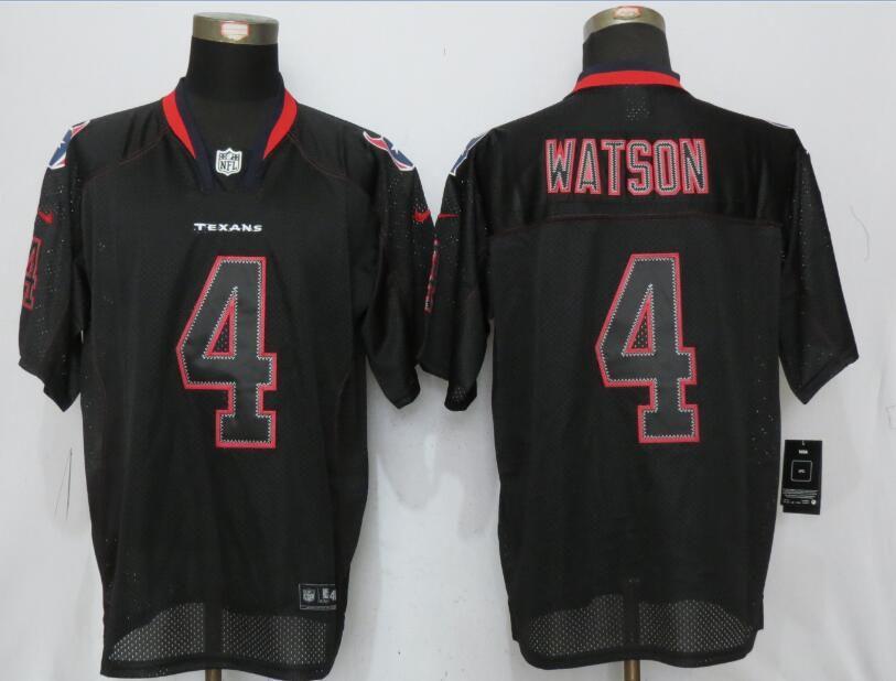 a47db690753 Men Houston Texans 4 Watson Lights Out Black Nike Elite NFL Jersey ...
