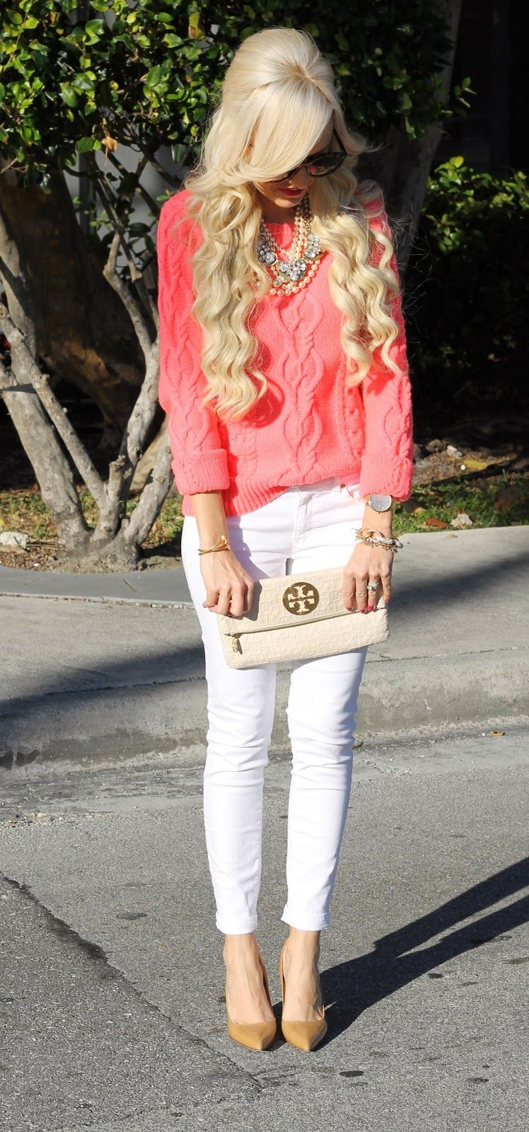SO ready for spring time! Are you? #RagsExchange #springoutfit #pinksweater www.ragsexchange.com