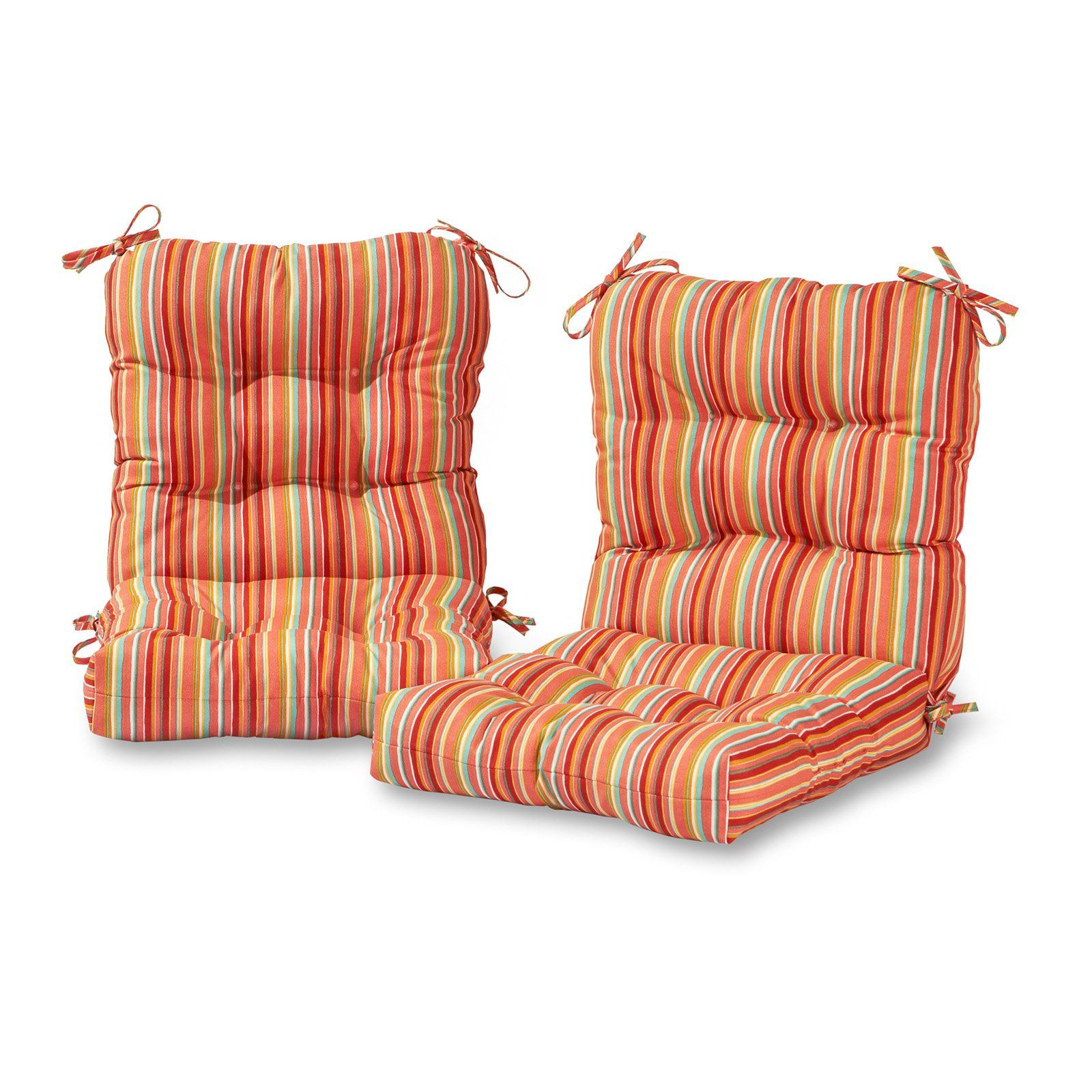 Greendale Home Fashions Outdoor Seat Back Chair Cushion Set Of 2