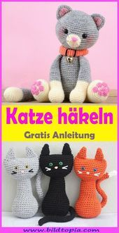 In this free tutorial, I will show you how to make a cute Amigurumi cat …   – Weihnachten s…