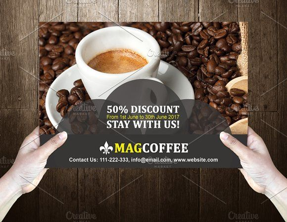 Coffeeo Post Card Template Design  @creativework247
