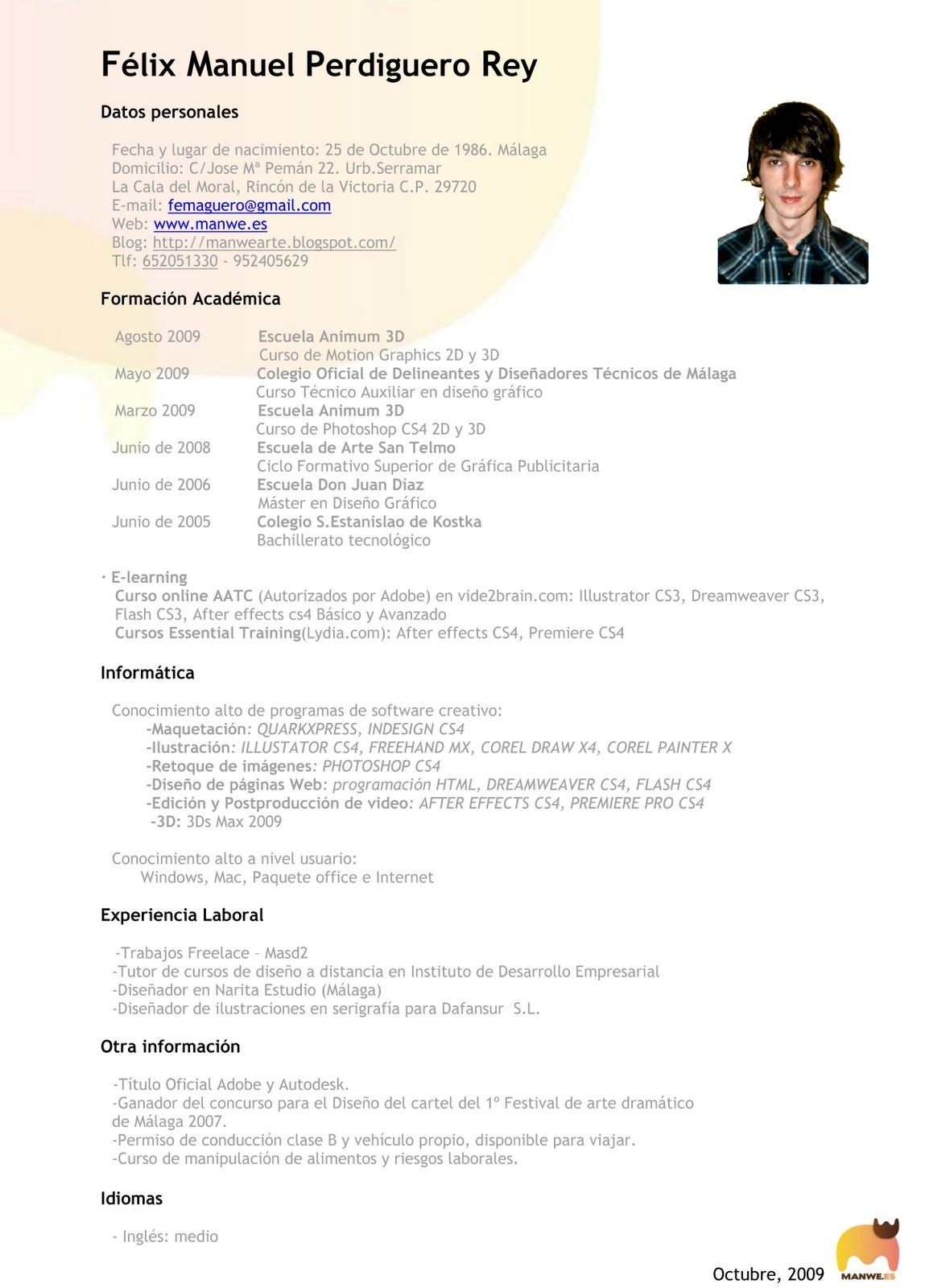 Curriculum Felix Manuel Formal Jpg 1180 1600 Cv 2 Elegant