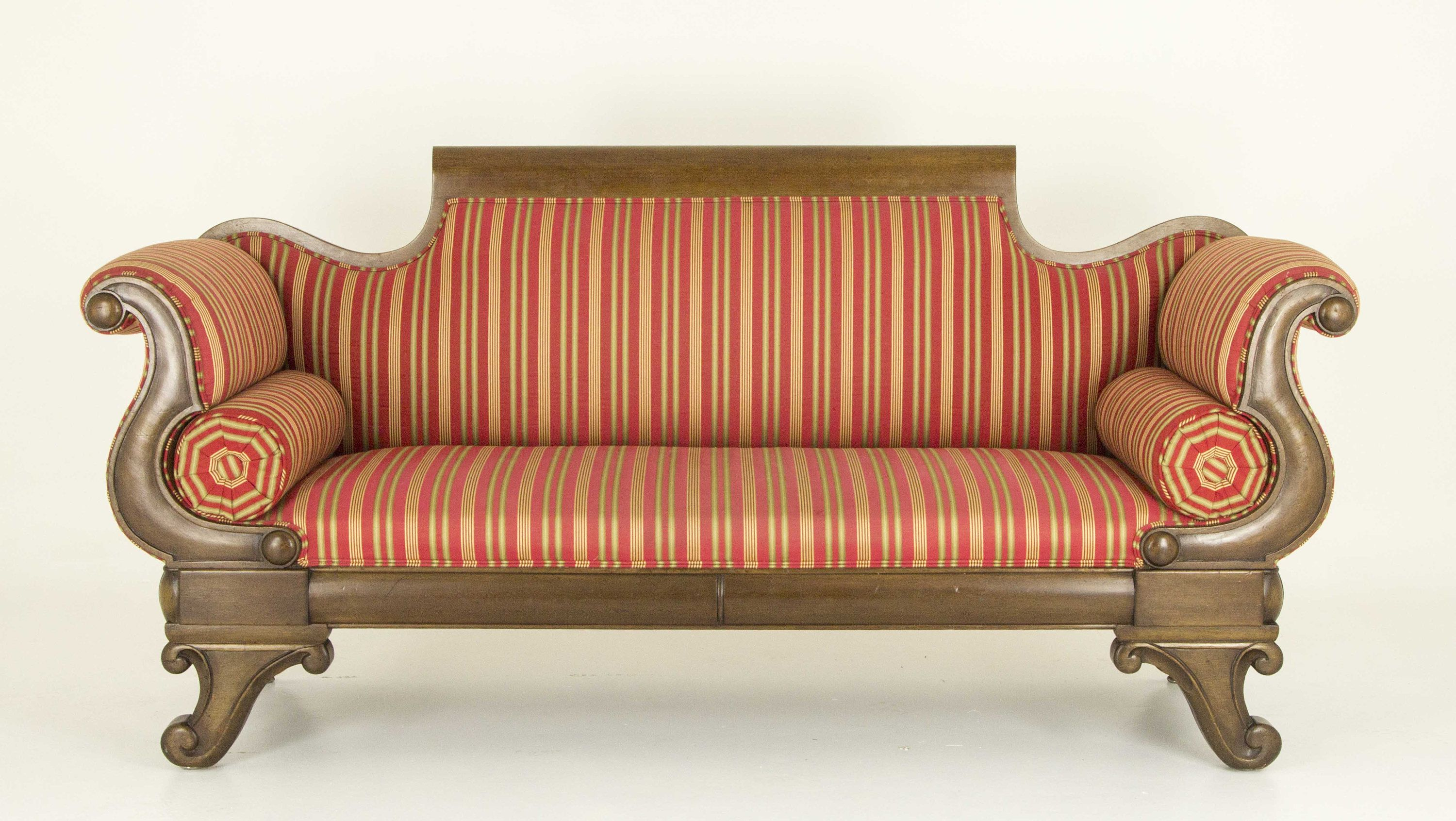 Antique Sofa | Victorian Mahogany Scroll Arm Sofa | Antique Settee | Antique Chaise Lounge | England B707 : settee chaise lounge - Sectionals, Sofas & Couches