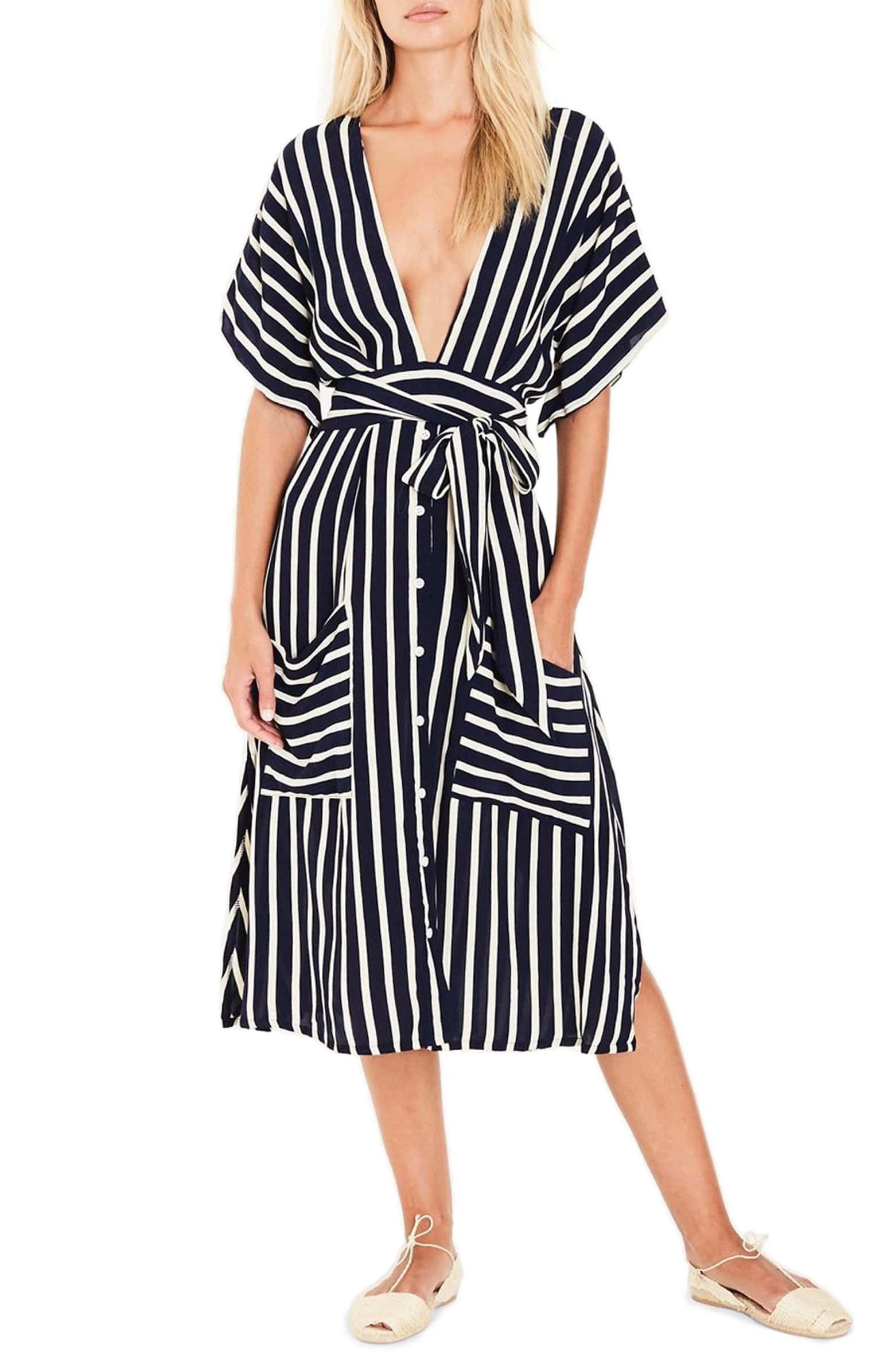 Faithfull The Brand Milan Stripe Midi Dress Nordstrom Striped Midi Dress Midi Dress Style Nordstrom Dresses [ 2392 x 1560 Pixel ]