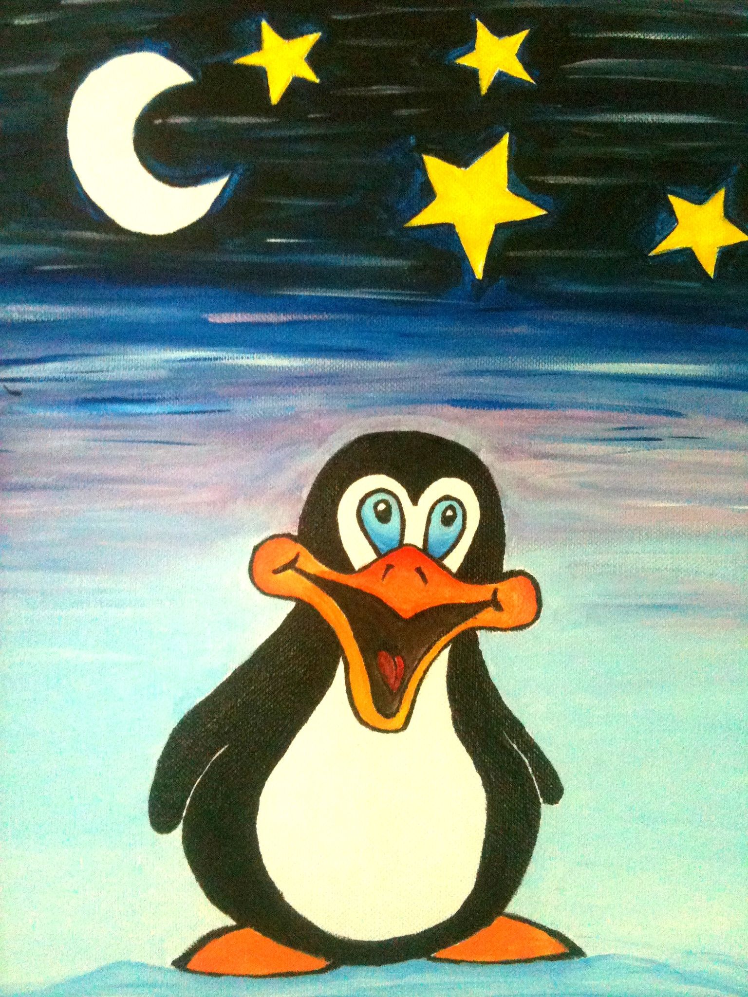 Made this for a friend who is obsessed with penguins :)