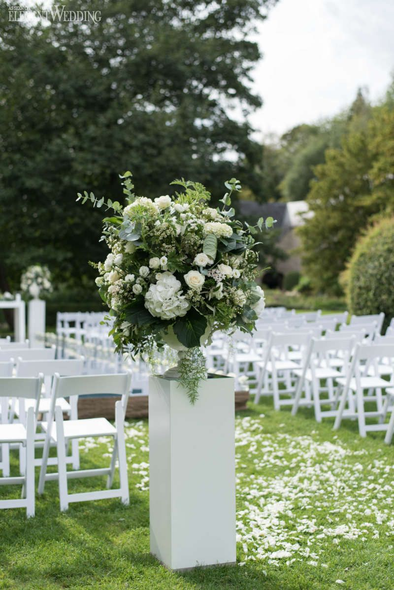 Greenery Wedding Ceremony Flowers Greenery Aisle Flowers Green