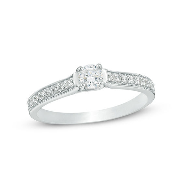 1 5 Ct T W Diamond Promise Ring In 10k White Gold In 2019 Diamond Promise Rings Promise Rings Rings