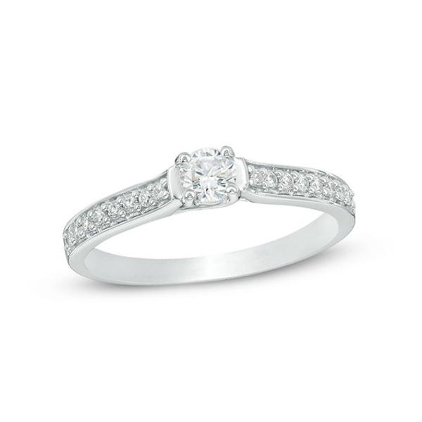 1 5 Ct T W Diamond Promise Ring In 10k White Gold In 2019 Diamond Promise Rings Promise Rings Rings