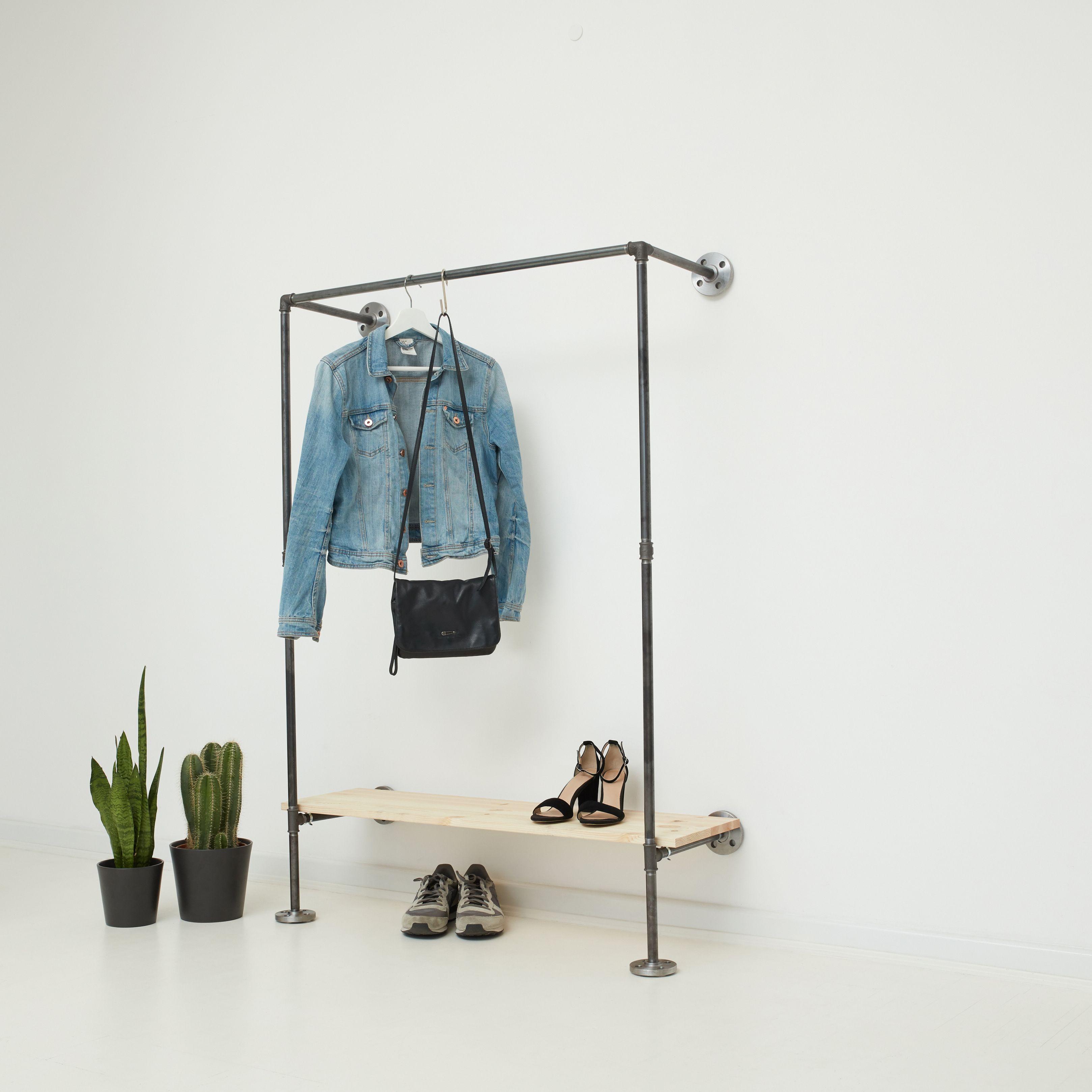 Holzleiter garderobe cool holzleiter haus bauen for Kleinmobel shabby chic