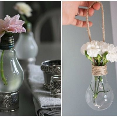 Ideas para convertir bombillas en preciosos objetos de for Bombillas de decoracion