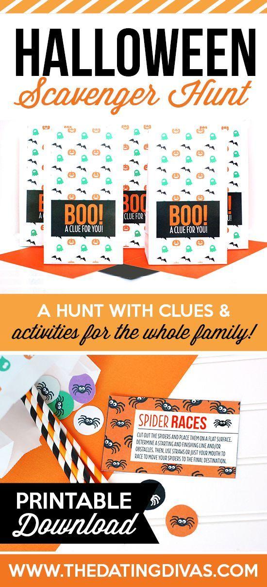 Halloween Scavenger Hunt Halloween scavenger hunt, Holidays - halloween activities ideas