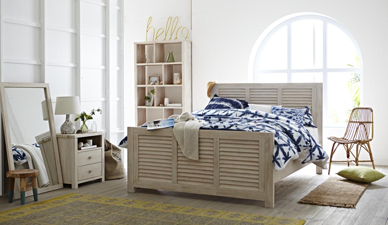 Ocean Grove Louvre Bed Frame Bed frame, King bed frame