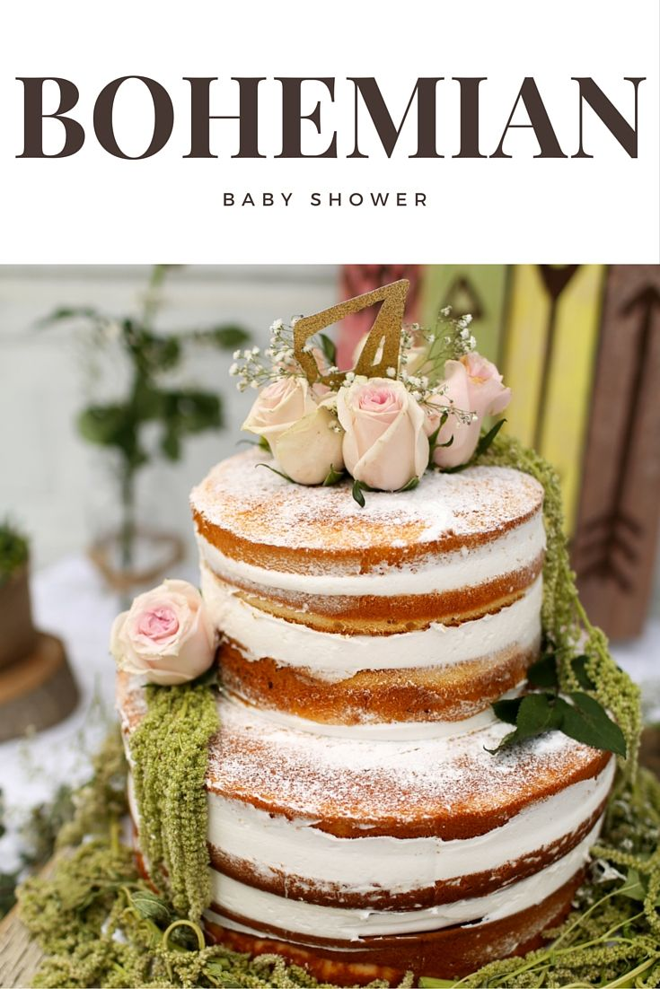 Bohemian Baby Shower - Cake Ideas More