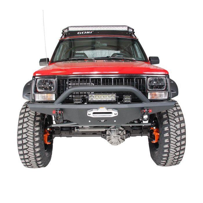 Or Fab Hd Winch Mount Bumper W Hoop Wrinkle Black Xj Jeep Cherokee Jeep Xj Jeep Cherokee Xj