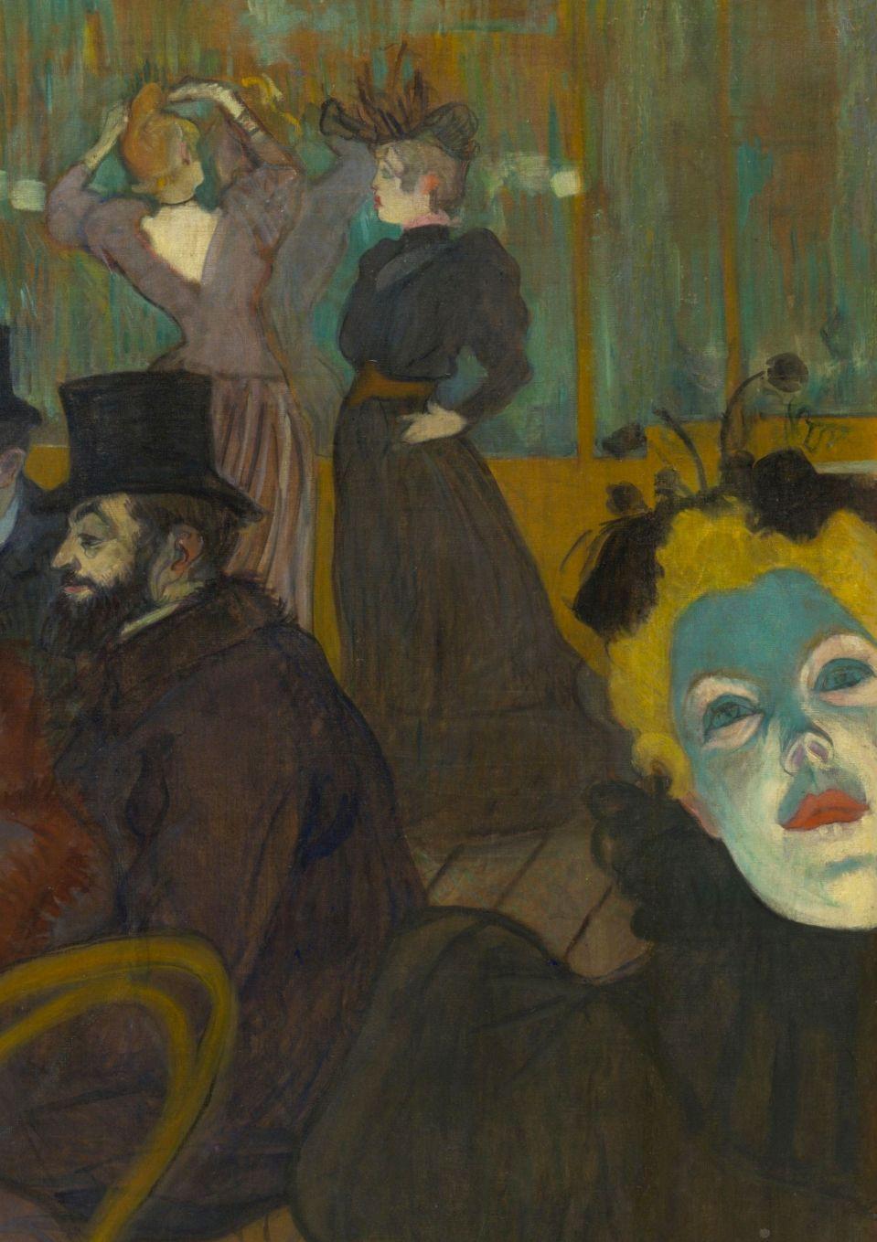 TOULOUSE-LAUTREC, Henri de French Post-Impressionist (1864-1901)_Lautrec- At the Moulin Rouge detail