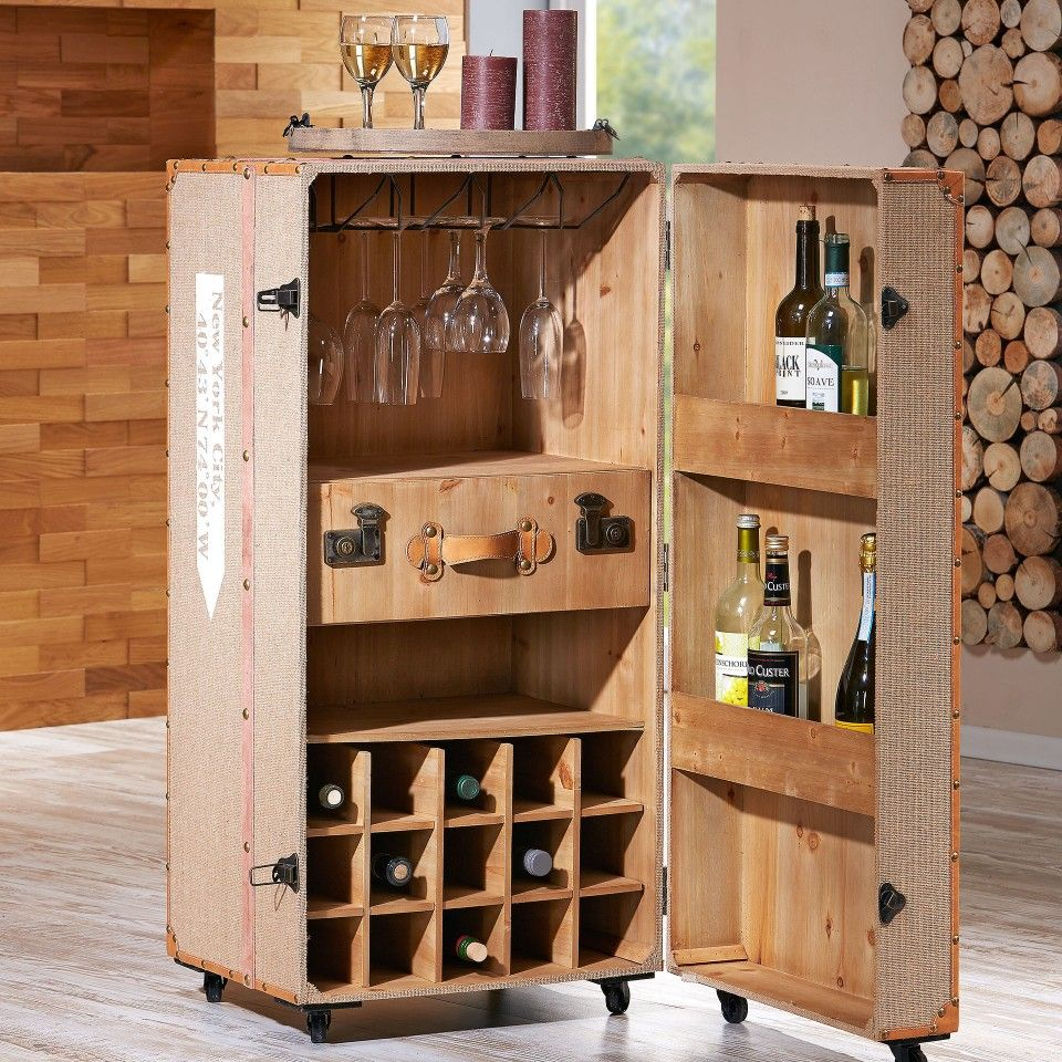 barschrank gedser mit rollen weinkisten design barschr nke weinkisten und d nisches. Black Bedroom Furniture Sets. Home Design Ideas