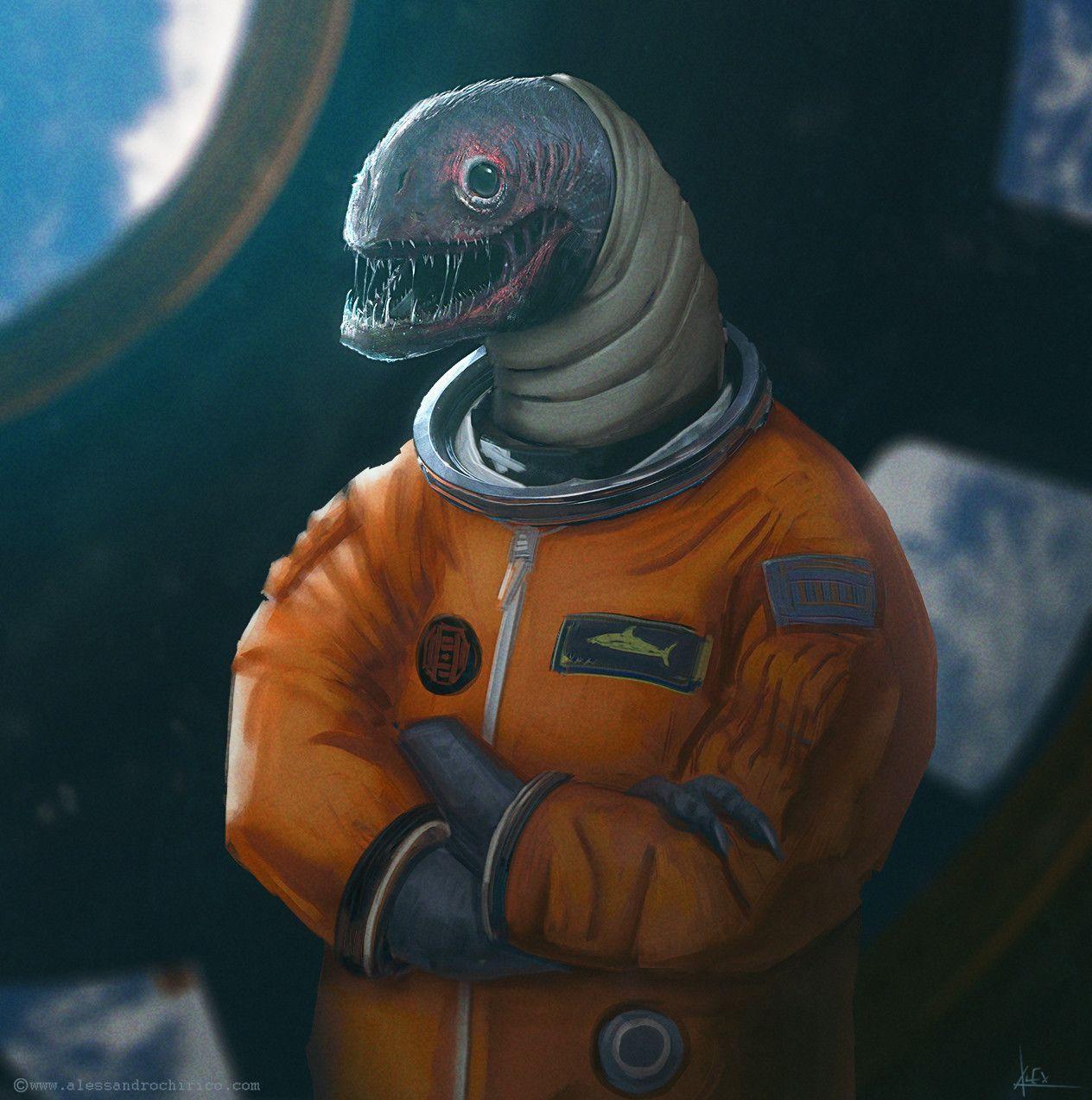 Astronaut, Alessandro Chirico on ArtStation at https://www.artstation.com/artwork/eQr5J