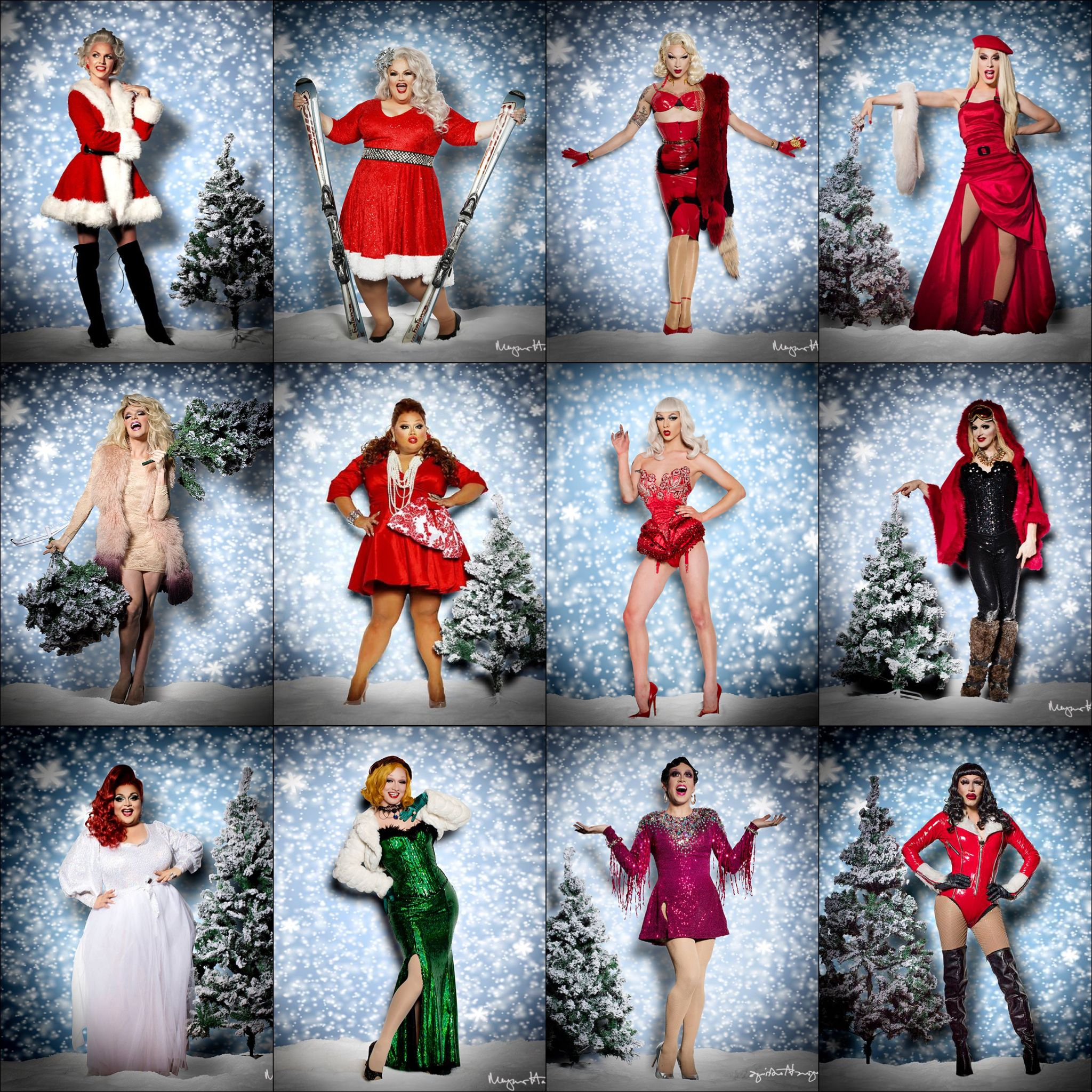Christmas Queens.Pin On Drag Queens