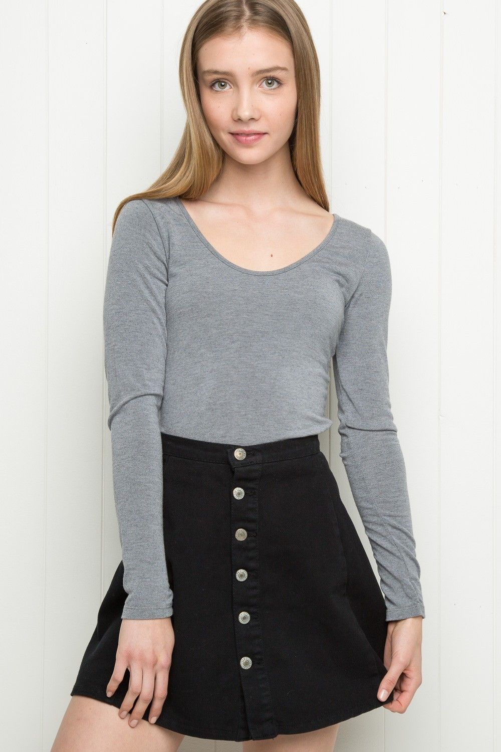 Brandy ♥ Melville | Danica Denim Skirt - Just In DANICA DENIM ...