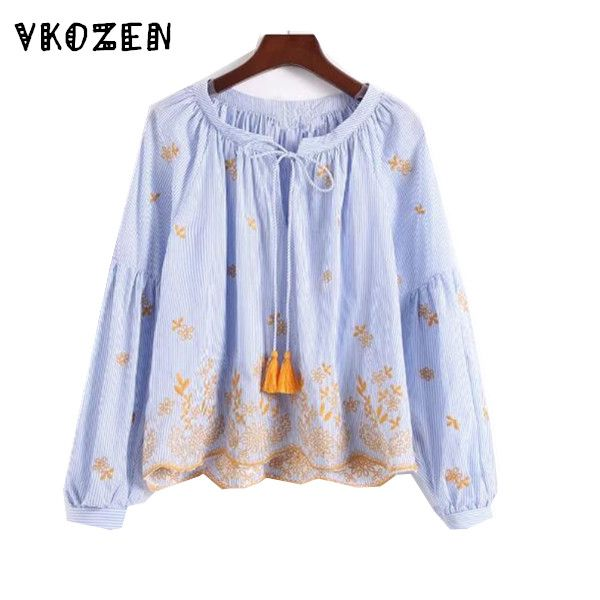 Women's Clothing Women Blouses Hot Sale Blouse Blusa Genuine New 2017 Heavy Art Embroidery Flowers Dingzhu Seven Sleeves Fur Base Fabric Shirt