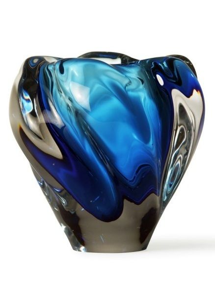 British Designer Art Glass Vase